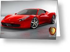 Ferrari Italia  Greeting Card