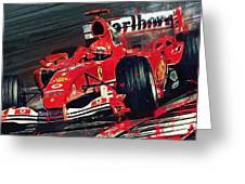 Ferrari - Michael Schumacher  Greeting Card