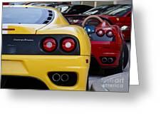 Ferrari Pair Greeting Card