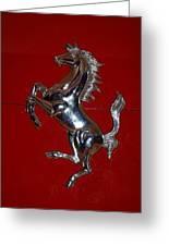 Ferrari Stallion Greeting Card by Rob Hans
