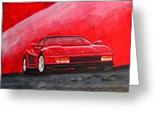 Ferrari Testarrossa Greeting Card