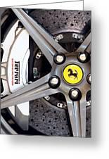 Ferrari Wheel Op 121915 Greeting Card