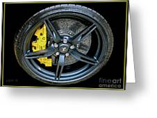 Ferrari Wheel Greeting Card