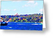 Ferries In The Harbor Greeting Card