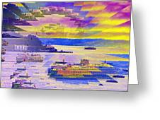 Ferries Off Alki Greeting Card