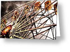 Ferris Wheel At Sunset Greeting Card
