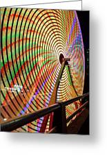 Ferris Wheel  Closeup Night Long Exposure Greeting Card