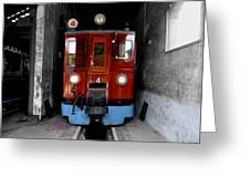 Ferrocarrril De Soller Greeting Card