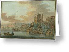 Ferry Across A River Greeting Card