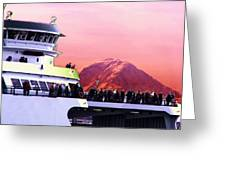 Ferry And Da Mountain Greeting Card