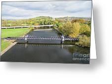 Ferry Bridge Burton On Trent Greeting Card