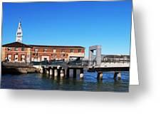 Ferry Building And Pinnacle Building - San Francisco Embarcadero Greeting Card