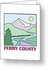 Ferry County II Greeting Card by Sarah Lawrence