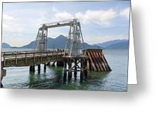 Ferry Dock And Pier At Porteau Cove Greeting Card