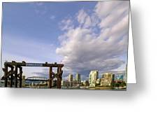 Ferry Dock At Granville Island In British Columbia Greeting Card