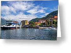 Ferry Dock In Varenna Greeting Card
