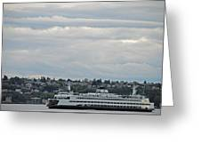 Ferry In Seattle Washington Greeting Card
