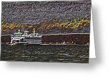 Ferry On Elliott Bay 3 Greeting Card