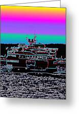 Ferry On Elliott Bay 4 Greeting Card