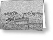 Ferry On Elliott Bay 5 Greeting Card