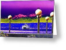 Ferry On Elliott Bay Greeting Card