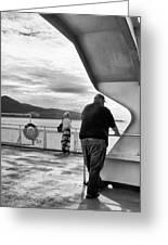 Ferry Passengers Greeting Card
