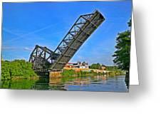 Ferry St Draw Bridge Greeting Card