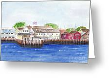 Ferry To Greenport Greeting Card