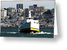 Ferryboat On The Bay Greeting Card