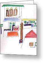 Festival In The City  1 Greeting Card