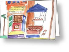 Festival In The City  6 Greeting Card by B L Qualls