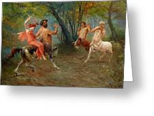 Festival Of Centaurs Greeting Card