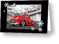 Festive Chevy Truck Greeting Card