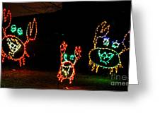 Festive Crab Decorations Greeting Card