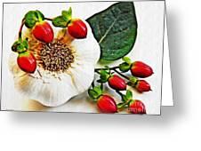 Festive Garlic Greeting Card