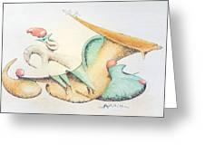 Festive Horn Greeting Card