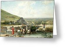 Fetching Water. Algeria Greeting Card