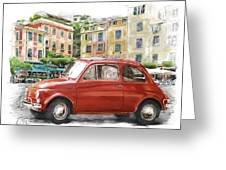 Fiat 500 Classico Greeting Card by Michael Doyle