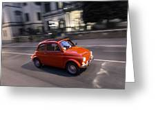 Fiat 500, Italy Greeting Card