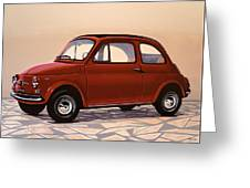 Fiat 500 1957 Painting Greeting Card