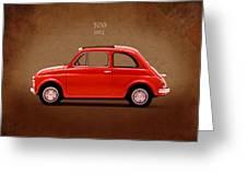 Fiat 500 R 1972 Greeting Card