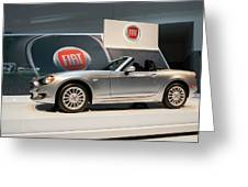 Fiat 124 Spider Greeting Card