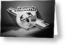 Fiat Abarth Emblem -ck1611bw2 Greeting Card