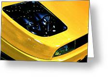 Fiat Coupe In Yellow Greeting Card