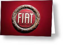 Fiat Emblem -1621c Greeting Card