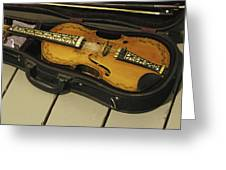 Fiddle In Case Greeting Card