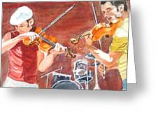 Fiddles Greeting Card