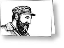 Fidel Castro Greeting Card by Karl Addison