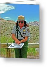 Field Archeologist Ranger In Quarry In Dinosaur National Monument, Utah  Greeting Card