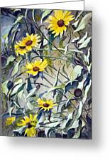 Field Daisies Greeting Card